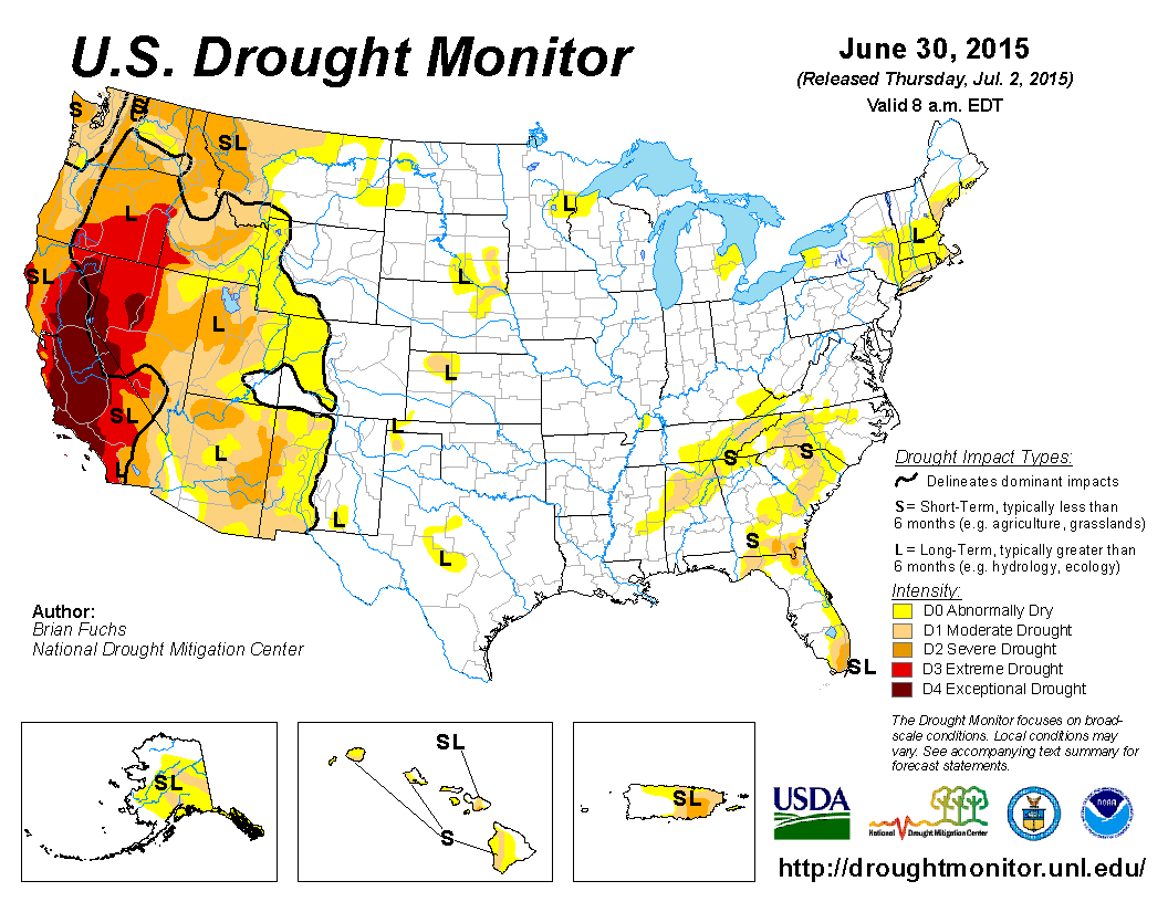 Drought Monitor: Record High Temps Over Much Of The West