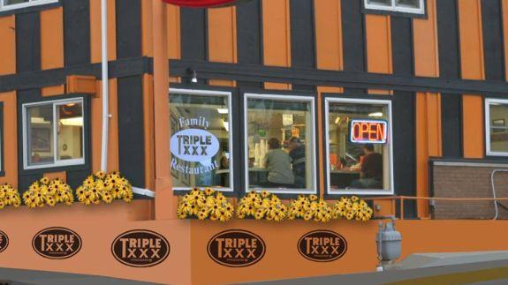 Triple xxx restaurant
